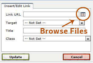 Browse files button